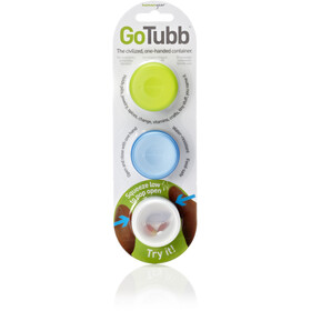 humangear GoTubb Small Travel Accessorie 3-pack clear/green/blue